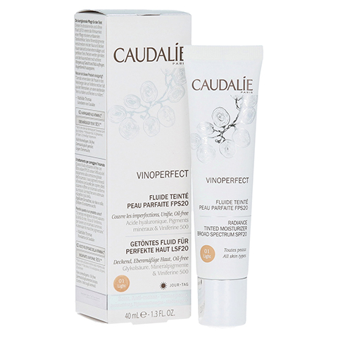 CAUDALIE Vinoperfect getöntes Fluid light LSF 20 40 Milliliter