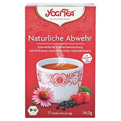 YOGI TEA Natürliche Abwehr Filterbeutel 17x1.8 Gramm - Vorderseite