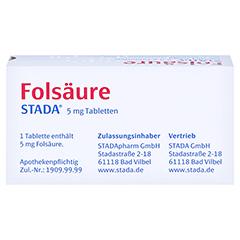 Folsäure STADA 5mg 100 Stück N3 - Oberseite