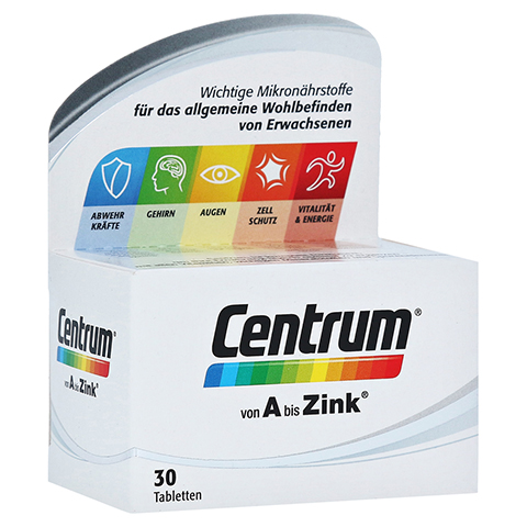 CENTRUM A-Zink Tabletten 30 Stück