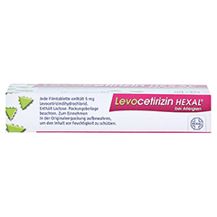 Levocetirizin HEXAL bei Allergien 5mg 18 Stück N1 - Oberseite