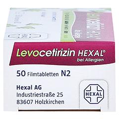 Levocetirizin HEXAL bei Allergien 5mg 50 Stück N2 - Rechte Seite