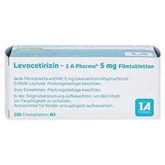 LEVOCETIRIZIN-1A Pharma 5 mg Filmtabletten 100 Stück N3 - Oberseite