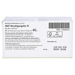 H&S Beruhigungstee N 20x2 Gramm - Unterseite