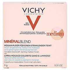 Vichy Mineralblend Mosaik-Puder Medium 9 Gramm - Vorderseite