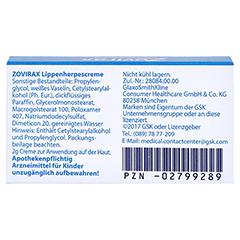 Zovirax Lippenherpescreme 2 Gramm N1 - Rückseite