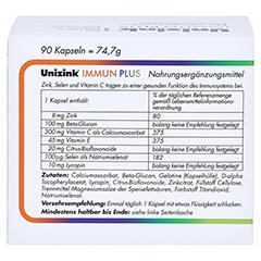 UNIZINK Immun Plus Kapseln 1x90 Stück - Rückseite