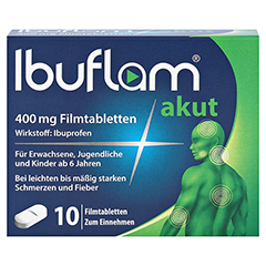 Ibuflam akut 400mg 10 Stück N1 - Vorderseite