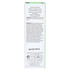 BURT'S BEES Sensitive Daily Moisturizing Cream 50 Gramm - Rückseite