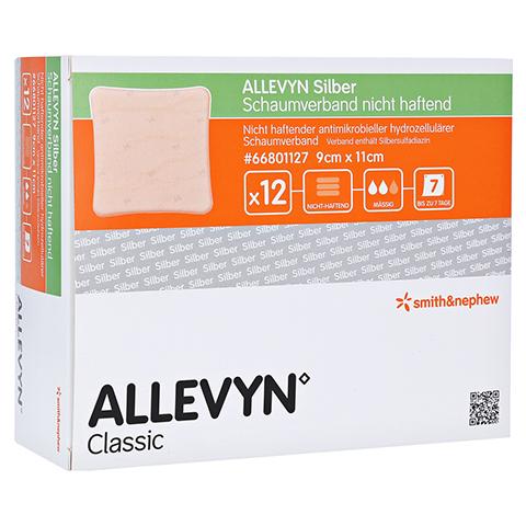 ALLEVYN Silber Schaumverb.9x11 cm nicht haftend 12 Stück