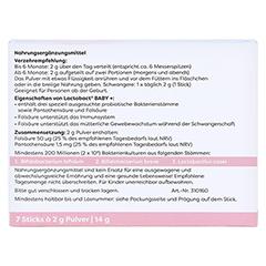 LACTOBACT Baby 7-Tage Beutel 7x2 Gramm - Rückseite