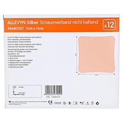 ALLEVYN Silber Schaumverb.9x11 cm nicht haftend 12 Stück - Rückseite