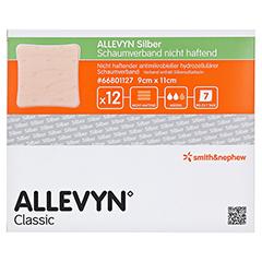 ALLEVYN Silber Schaumverb.9x11 cm nicht haftend 12 Stück - Vorderseite