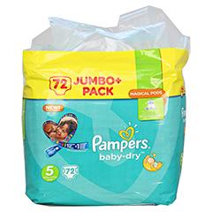 PAMPERS Baby Dry Gr.5 junior 11-23kg Jumbo plus P. 72 Stück - Vorderseite