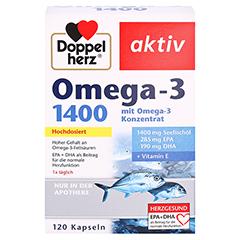 DOPPELHERZ Omega-3 1.400 Kapseln 120 Stück - Vorderseite