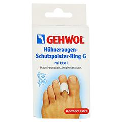 GEHWOL Hühneraugen-Schutzpolster-Ring G mittel 3 Stück - Vorderseite