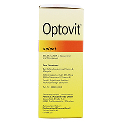OPTOVIT select 1.000 I.E. Kapseln 100 Stück - Linke Seite