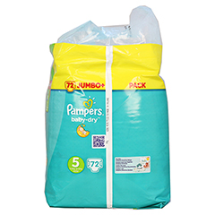 PAMPERS Baby Dry Gr.5 junior 11-23kg Jumbo plus P. 72 Stück - Rechte Seite