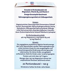DOPPELHERZ Magnesium 400 Citrat system Granulat 20 Stück - Rechte Seite