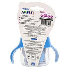 AVENT Sip No Drip Becher 200 ml blau 1 Stück - Rückseite