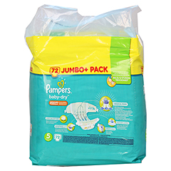PAMPERS Baby Dry Gr.5 junior 11-23kg Jumbo plus P. 72 Stück - Rückseite