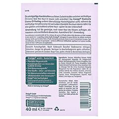 KNEIPP hautzartes Creme-Öl-Peeling 40 Milliliter - Rückseite