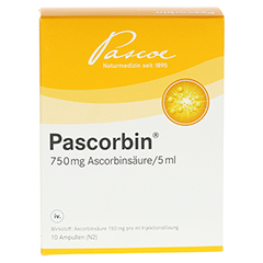 PASCORBIN Injektionslösung 10x5 Milliliter N2 - Rückseite