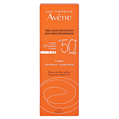 AVENE SunSitive Sonnencreme SPF 50+ o.Duftst. + gratis Thermalwasser 50 ml 50 Milliliter - Rückseite