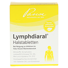 LYMPHDIARAL HALSTABLETTEN 100 Stück N1 - Rückseite