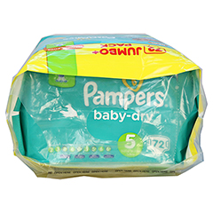 PAMPERS Baby Dry Gr.5 junior 11-23kg Jumbo plus P. 72 Stück - Oberseite