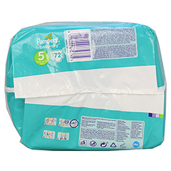 PAMPERS Baby Dry Gr.5 junior 11-23kg Jumbo plus P. 72 Stück - Unterseite