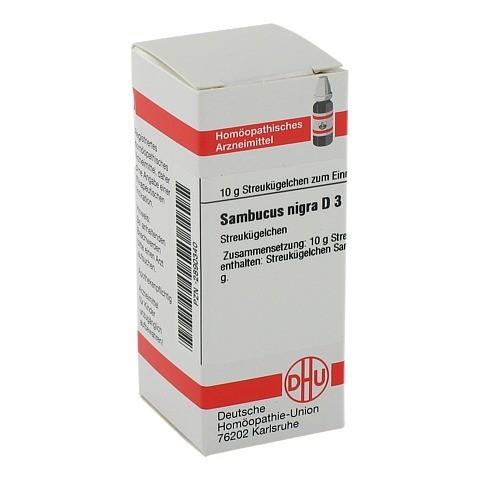 SAMBUCUS NIGRA D 3 Globuli 10 Gramm N1
