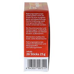 SANOSTOL spezial Energie Sticks + gratis sanostol Drachen-Schmatz 50g 20 Stück - Linke Seite