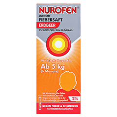 Nurofen Junior Fiebersaft Erdbeer 2% 100 Milliliter N1 - Vorderseite