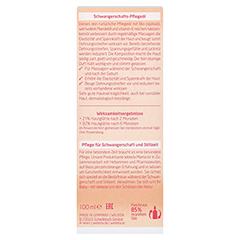 Weleda Schwangerschaftspflegeöl 100 Milliliter - Rückseite