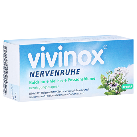 Vivinox Nervenruhe Baldrian+Melisse+Passionsblume 40 Stück