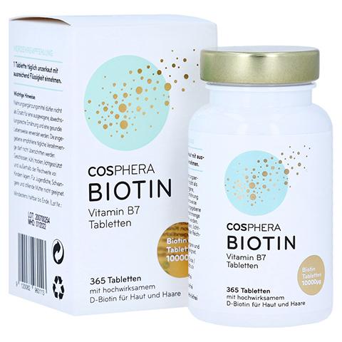 COSPHERA Biotin 10 mg Tabletten 365 Stück