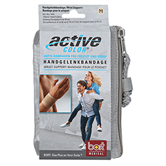BORT ActiveColor Handgelenkbandage M haut 1 Stück