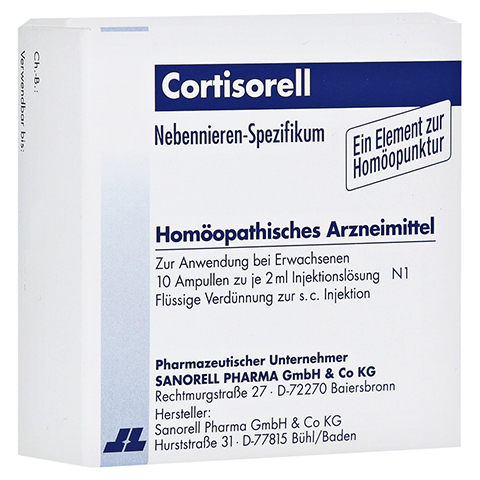 CORTISORELL Injektionslösung 10x2 Milliliter N1