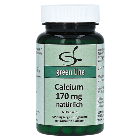CALCIUM 170 mg natürlich Kapseln 60 Stück