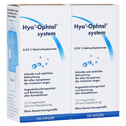 HYA-OPHTAL system Augentropfen 2x15 Milliliter