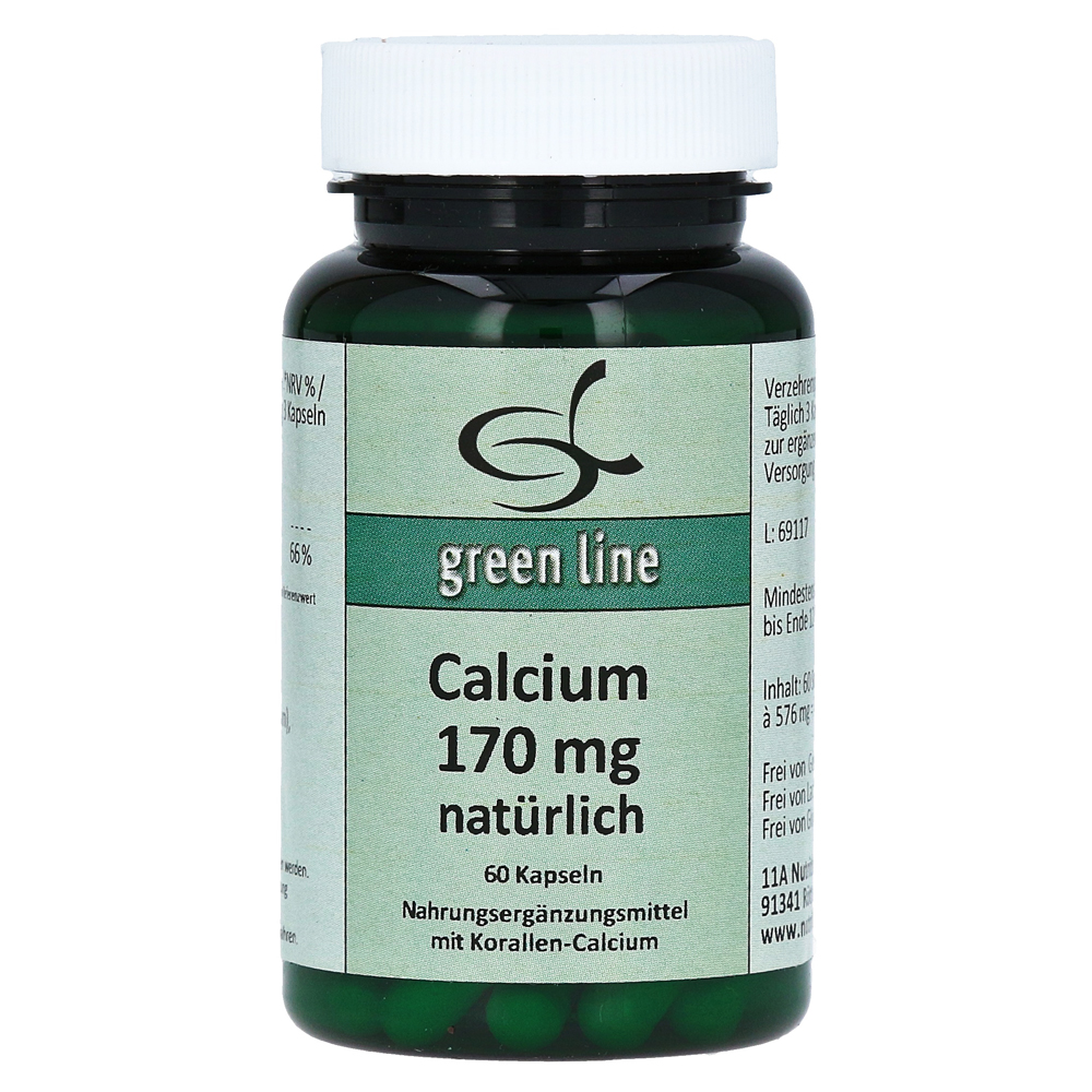 calcium 170 mg nat rlich kapseln 60 st ck online bestellen. Black Bedroom Furniture Sets. Home Design Ideas