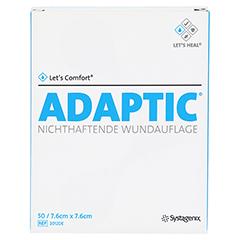 ADAPTIC 7,6x7,6 cm feuchte Wundauflage 2012DE 50 Stück - Vorderseite
