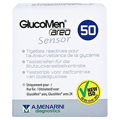 GLUCOMEN areo Sensor Teststreifen 50 Stück - Vorderseite