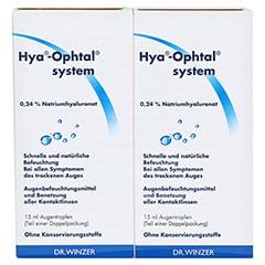 HYA-OPHTAL system Augentropfen 2x15 Milliliter - Vorderseite