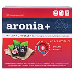 ARONIA+ IMMUN Monatspackung Trinkampullen 30x25 Milliliter - Vorderseite