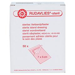 RUDAVLIES-steril Verbandpflaster5x7 cm 50 Stück - Vorderseite