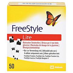 FREESTYLE Lite Teststreifen ohne Codieren 50 Stück - Vorderseite