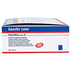 GAZOFIX color Fixierbinde kohäsiv 6 cmx20 m blau 6 Stück - Linke Seite