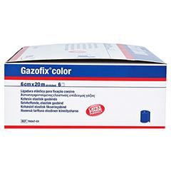 GAZOFIX color Fixierbinde kohäsiv 6 cmx20 m blau 6 Stück - Rechte Seite